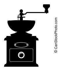 coffee mill old retro vintage icon stock vector illustration