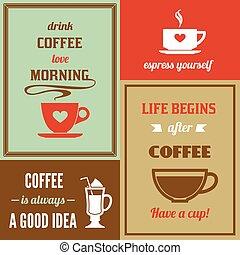 Coffee mini poster set
