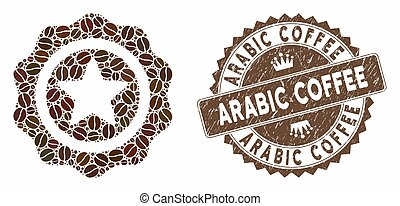 Coffee Mosaic Best Quality with Textured Arabic Coffee Stamp...
