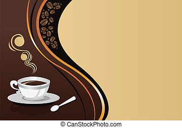 A vector illustration of coffee mug background with copyspace
