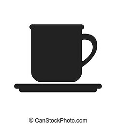 coffee mug beverage caffeine drink silhouette vector...