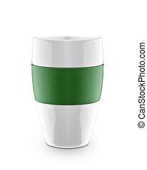coffee mug isolated on white background