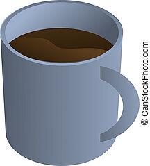 Coffee mug, isometric 3d illustration