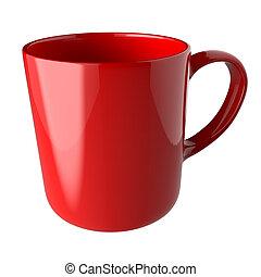 Coffee mug on white background