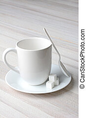 Coffee Mug Spoon Sugar Cubes