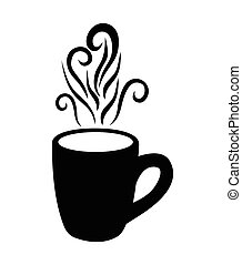 Coffee mug vector icon