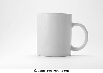 Coffee mug with gray background