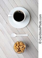 Coffee Natural Sugar Cubes Spoon