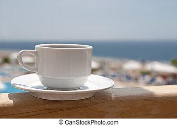 Coffee near sea