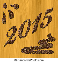 Coffee New Year 2015 generated texture background