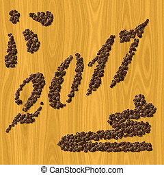 Coffee New Year 2017 generated texture background