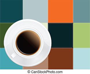 Coffee on a napkin