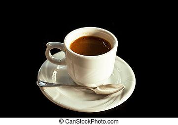Coffee on black background