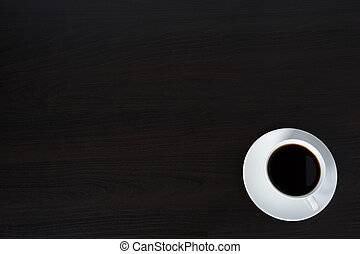 Coffee on black background