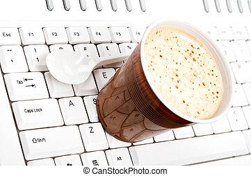 Coffee on keyboard