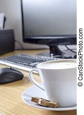Coffee on office desk