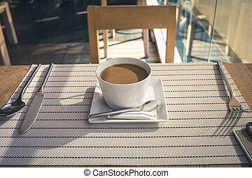 Coffee on the table