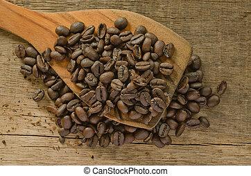 coffee on the wood