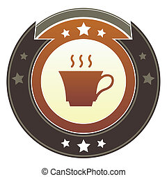 Coffee or tea imperial button
