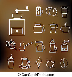 coffee outline icons