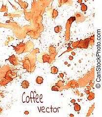 Coffee paint splashes
