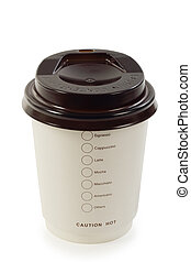 coffee paper cup isolated with clipping path.