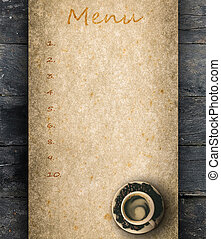 Coffee peper menu