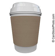 Coffee Plastic Cup Morning Java Drink Caffeine Blank Copy Space