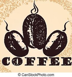 Coffee poster with hand drawn arabi