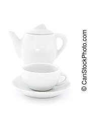 Coffee Pot and Coffee Cup