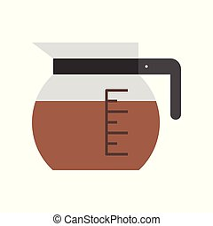Coffee pot vector, coffee related flat style icon