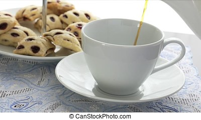 Coffee Pour with Strudels