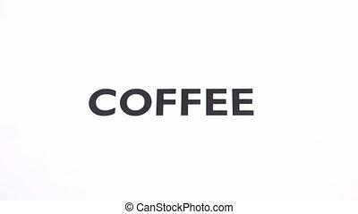 COFFEE prohibition symbol, caffeine free, espresso ban...