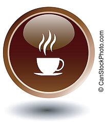 coffee, restauran button
