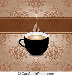 Coffee retro background