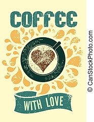 Coffee retro poster.