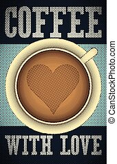 Coffee retro poster.