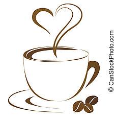 Coffee - Romantic coffee outline