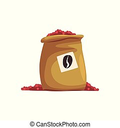 Coffee sack vector Illustration on a white background