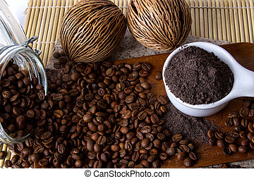 Coffee Scrub - Coffee skin scrub for spa.