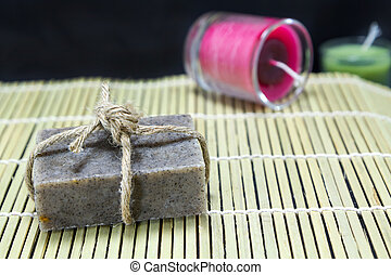 Coffee scrub soap for spa
