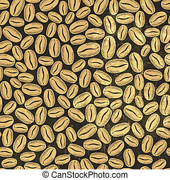 Coffee seamless background. Vector