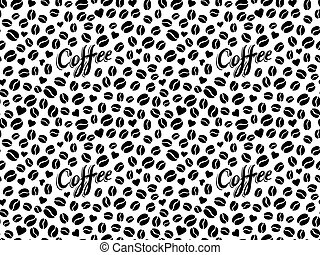 Coffee seamless pattern in tattoo style