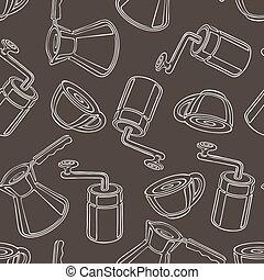 coffee seamless pattern vector illustration