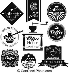 coffee set labels