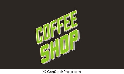 Coffee Shop background, Video Animation