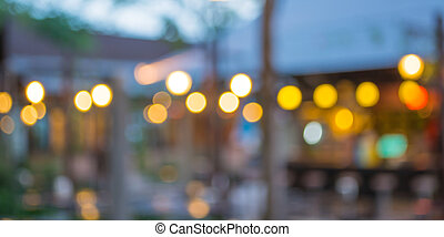 Coffee shop blur background with bokeh - coffee shop blur...