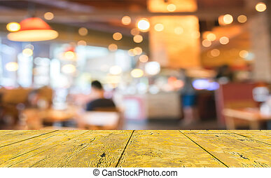 Coffee shop blur background with bokeh image. - Coffee shop...