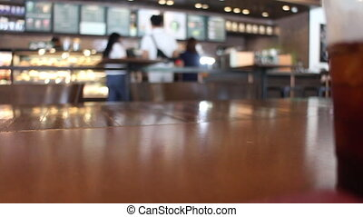 Coffee shop consumer service surroundings, stock footage