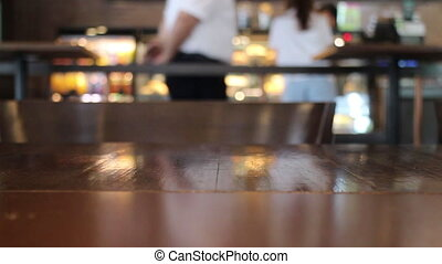 Coffee shop customer service surroundings, stock footage